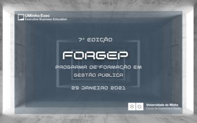Programa de Formação em Gestão Pública – FORGEP | 7ª Edição